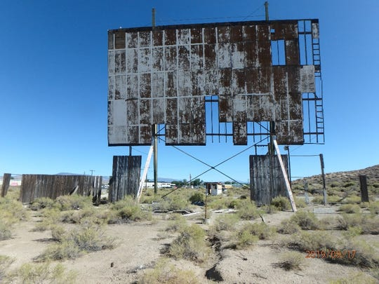 Remnants of the Sagecrest Drive-in movie theater.