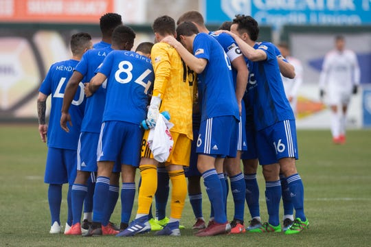 The season is suspended until at least May 10 for Reno 1868 FC