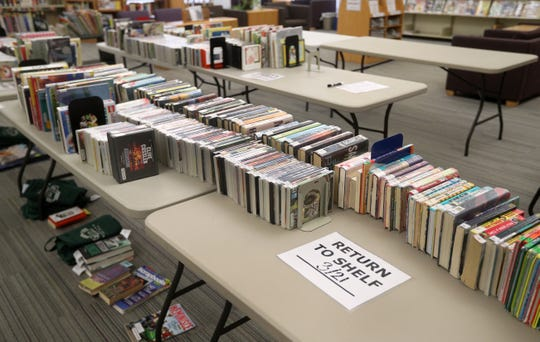 These returned books will be quarantined for 72 hours per the health department, before being returned to the shelf at the Webster Public Library.
