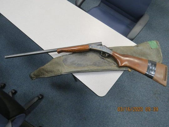 This illegal shotgun was found during a traffic stop near Carlsbad on Saturday, March 14, 2020.