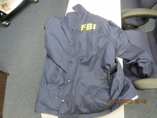 This jacket was found during a traffic stop near Carlsbad on Saturday, March 14, 2020.