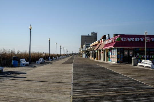 The Rehoboth Boardwalk on Wednesday, March 18, 2020.