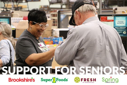Brokkshire's grocery stores are offering a dedicated hour for senior customers to shop and  a 5% senior discount.