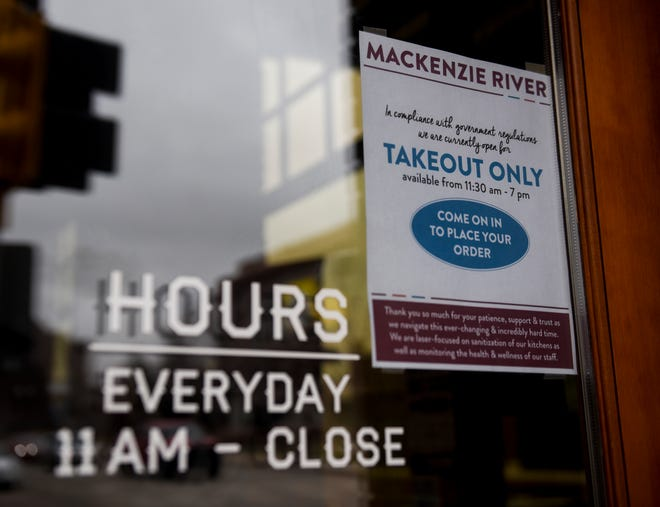 MacKenzie River is open for takeout orders only due to the coronavirus on Wednesday, March 18, 2020 in Sioux Falls.
