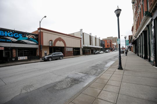 South Avenue in downtown Springfield was quiet and there was plenty of parking on Wednesday, March 18, 2020, as many people were self isolating due to the coronavirus.