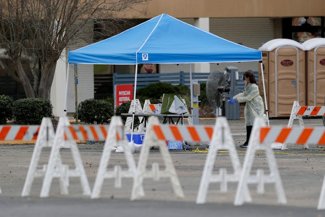 Tallahassee's first drive-through coronavirus testing site opened at Northwood Centre.