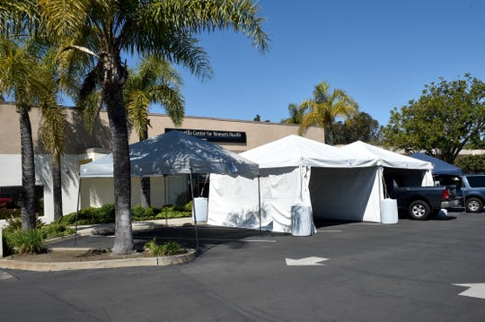 Clinics and health care sites across Ventura County, including this Center For Family Health site in Camarillo, are conducting drive-through screening for COVID-19 and flu. Shortages of supplies means testing for the coronavirus is reserved for those with the most acute symptoms and need.