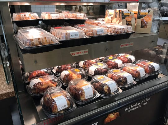 Fried and rotisserie chicken are fully stocked on the deli at Stop & Shop in Nanuet March 18, 2020.