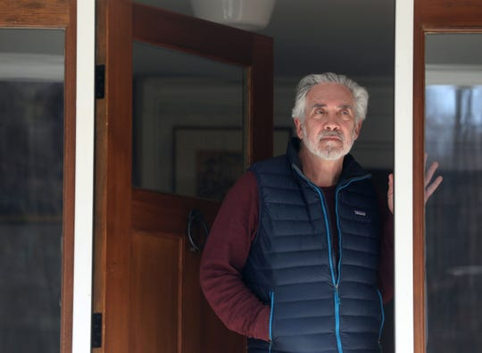 Dr. Ezriel Kornel, a neurosurgeon in Westchester County, N.Y., was diagnosed with COVID-19 and has been symptomatic for ten days. Kornel, photographed at his home in Bedford March 18, 2020, has remained under self-quarantine at home.