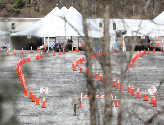 The coronavirus testing center at Harriman State Park's Anthony Wayne Recreation Area in Stony Point opened on Wednesday, March 18, 2020.