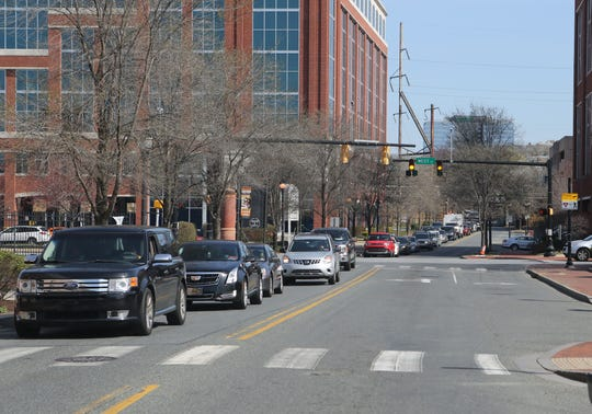 Traffic was a major concern Wednesday morning at the Wilmington Riverfront when hundreds of motorists drove there to receive food given away by the Food Bank of Delaware.