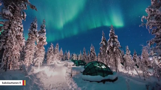 There are many ways to see the northern lights, but among the more unique ones is to watch them from inside a glass igloo.