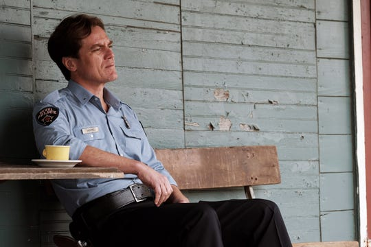 """Michael Shannon plays a Texas police chief suspicious of the new preacher in town in the crime drama """"The Quarry."""""""