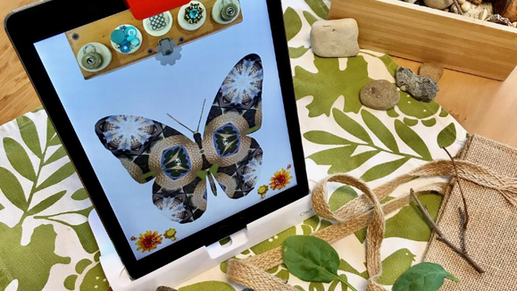 Kids can create their own kaleidoscopes with the free Osmo / Bennett Day School app.