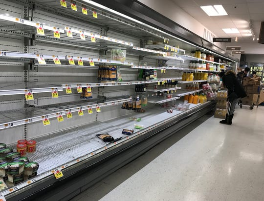 Empty shelves in the dairy section have greeted many shoppers in grocery stores across the nation.