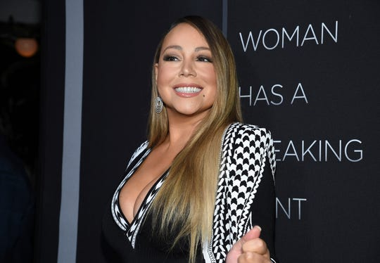 "Singer Mariah Carey attends the premiere of Tyler Perry's ""A Fall from Grace,"" at Metrograph, Monday, Jan. 13, 2020, in New York. (Photo by Evan Agostini/Invision/AP) ORG XMIT: NYEA127"