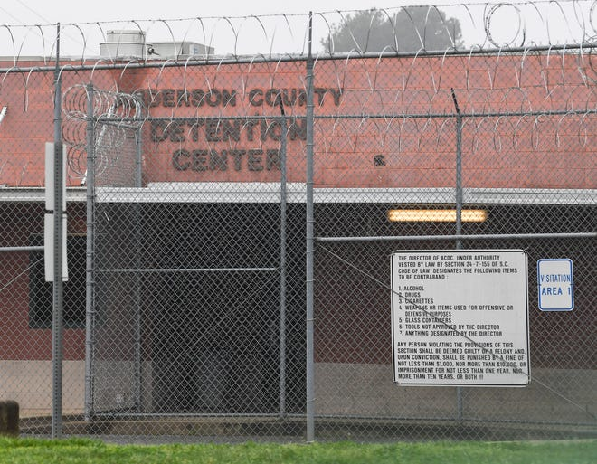 The Anderson County Detention Center in Anderson, S.C. in Anderson Thursday, March 18, 2020.