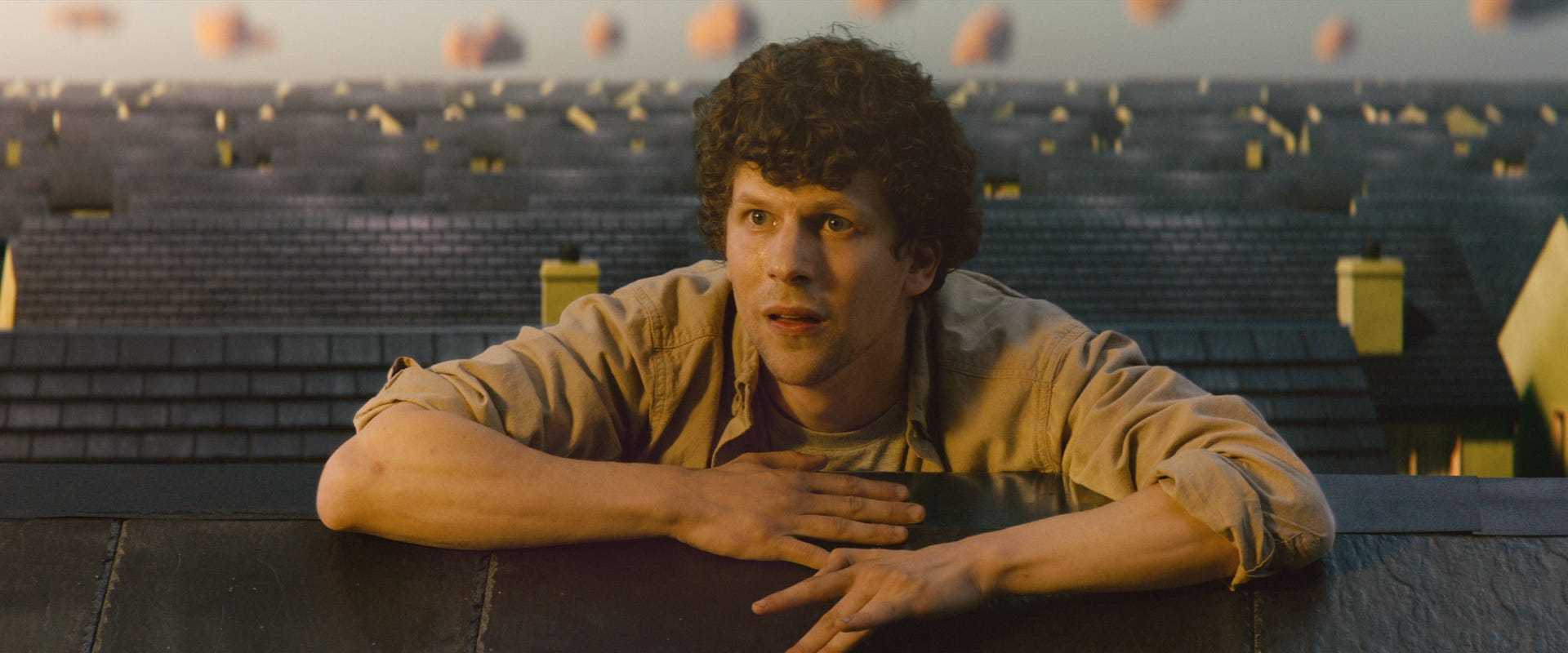 It s so strange : Jesse Eisenberg s new movie  Vivarium  is coincidentally about a couple trapped at home