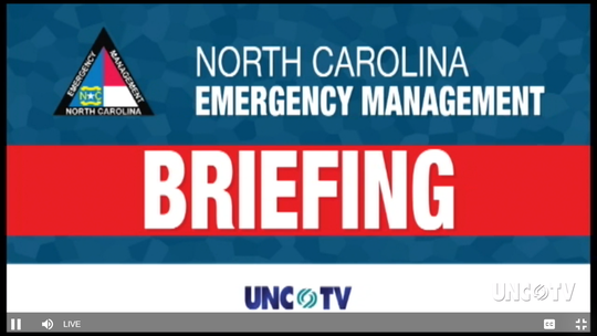 Gov. Roy Cooper and other state officials gave an update March 19 on the effects of the coronavirus pandemic in North Carolina.
