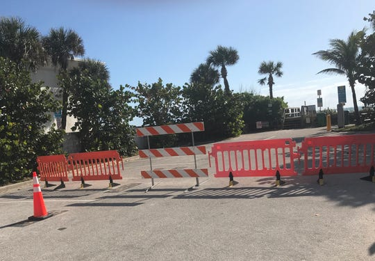 All streets with public parking have been blocked off in Cocoa Beach March 19, 2020.