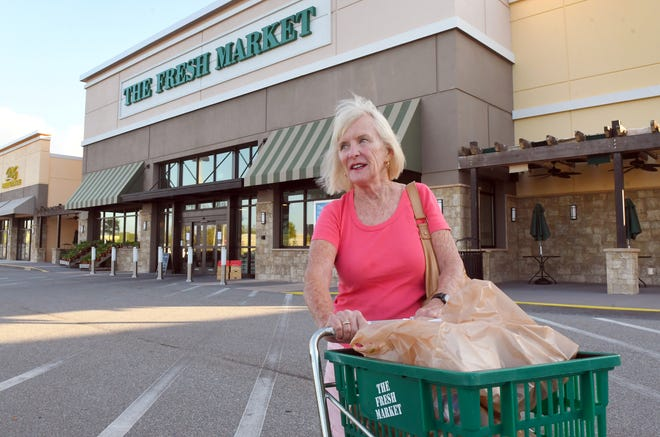 Jamie Daggett came over from Cocoa Beach to shop in the morning. The Fresh Market, an upscale grocery 6385 N. Wickham Road in the Suntree area is offering a time from 8:00-9:00am for senior citizens and those at risk to get their grocery shopping done. The are asking other customers to help in reserving this time Monday-Friday just for this group of citizens.