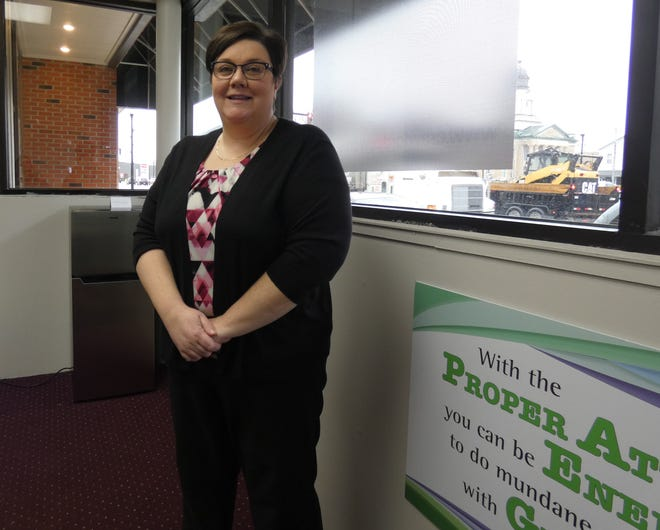 Heather Smith, executive director of Crawford Works, stands in the front of the organization's office on North Sandusky Avenue in early 2020. Crawford Works has received a $35,091 CARES Act grant, part of $40,000 made available by the Crawford County commissioners to help the county's nonprofits.