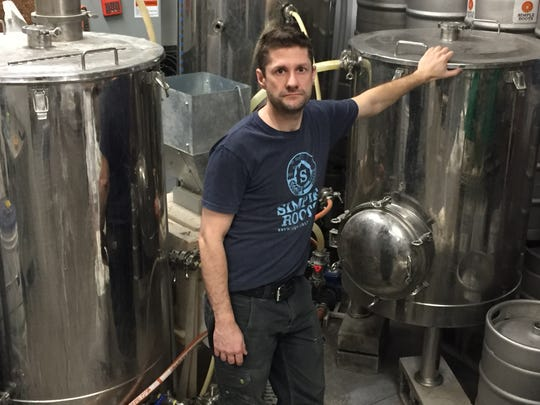 "Dan Ukolowicz of Simple Roots Brewing, shown in his Burlington brewery March 19, 2020, says he can withstand March and muddle through April with bars and restaurants in Vermont closed through April 6 because of the COVID-19 outbreak, but he isn't sure should the closure goes beyond that. ""May scares me,"" he said."