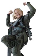 """Major Terri """"Glade"""" Sherry, a second-generation pilot and proud member of VTANG."""