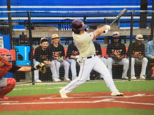 Tuloso-Midway's Jordan Bueno was voted the Caller-Times High School Athlete of the Week after hitting three 3-run home runs in the Victoria ISD Tournament.