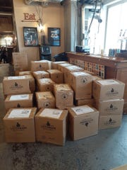 Listermann beers ready for shipment.
