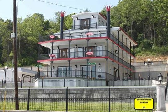 Greg VanDemark's home along the Ohio River that is designed to resemble a riverboat. Prosecutors said Vandemark falsely deducted it on his taxes as a bed-and-breakfast.