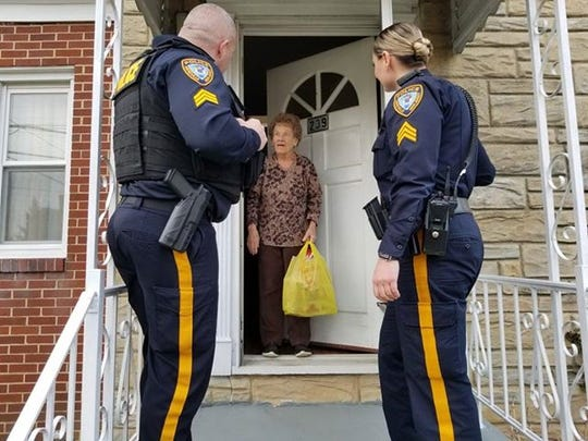 In the midst of the COVID-19 crisis, Sgts. Tom Sheehan and Angela Maot of the Sayreville Police Department are offering hope — and a bag of groceries — to their most vulnerable population —senior citizens.