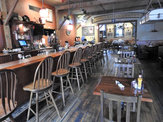 Normally busy at lunch time, the Warehouse Steak 'n Stein has been empty of customers this past week due to state order to stop dine-in eating to stop the spread of COVID-19.