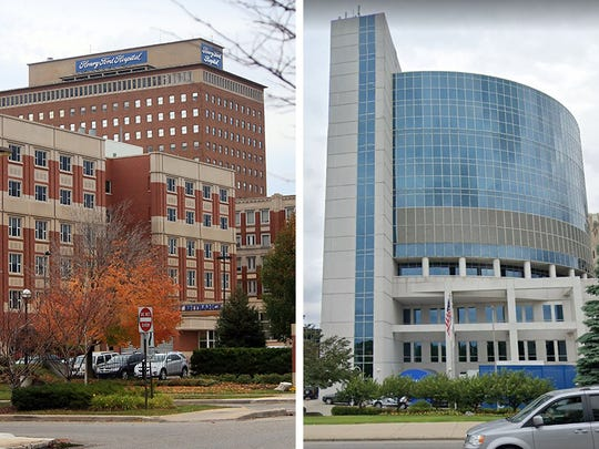 Henry Ford Hospital in Detroit, left, and McLaren Hospital in Pontiac each reported Thursday, March 19 having one patient die due to the coronavirus.