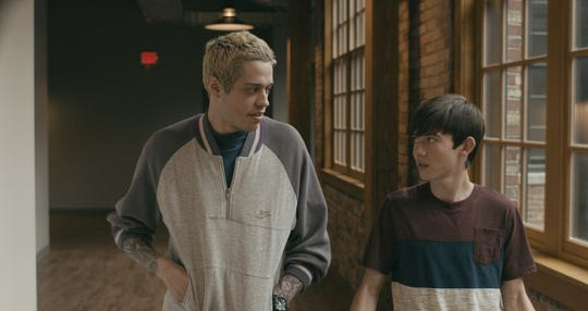 "Pete Davidson and Griffin Gluck in ""Big Time Adolescence."""