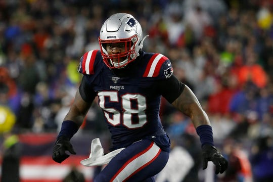Linebacker Jamie Collins was part of the mass migration from New England to Detroit this week.