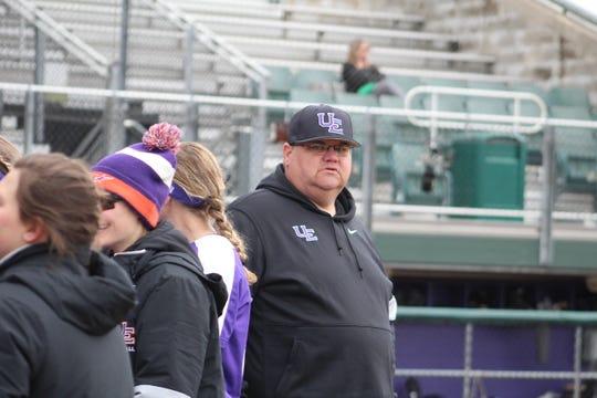 UE softball coach Mat Mundell