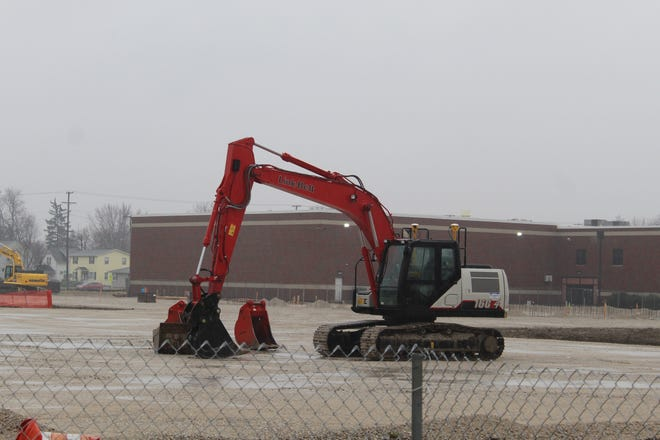 Work continues on the new Fremont Ross High School building and the Fremont City Schools' four new elementary school buildings. District officials still plan to open the new elementary school buildings later this year for the start of the 2020-2021 school year.