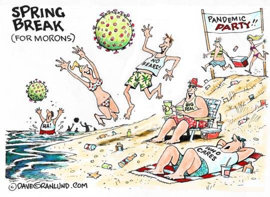 Spring break and coronavirus.