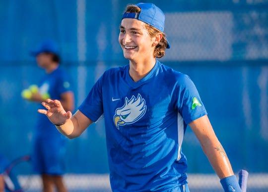 FGCU freshman Guglielmo Stefanacci is one of many athletes from Europe. Stefanacci is stranded at Florida Gulf Coast due to the coronavirus pandemic.