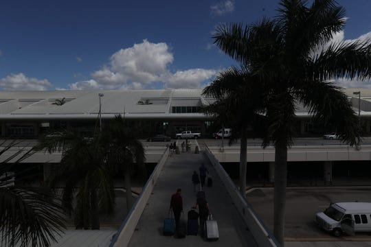 Images from Southwest Florida International Airport on Thursday March 19, 2020. Traffic is down at the airport because of the coronavirus pandemic.