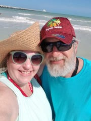 Tonya and John Fredrick of Henderson take a selfie in Progreso, Mexico. The Fredricks are in self-quarantine for 14 days after going on a cruise from New Orleans to Mexico and back.