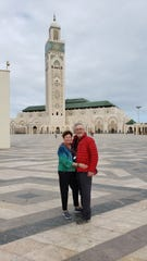 Patricia Scott (left) and her husband Karl Mann in Morocco. The couple from Indianapolis have been in the North African country since March 10, 2020, and have not been able to return to the U.S. after Morocco closed its borders March 15, 2020.