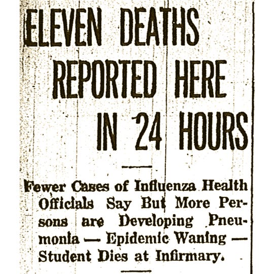 The Ithaca Journal was the primary source of news for Ithaca's flu-stricken public in 1918.