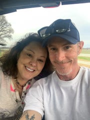 Shannan Allen poses with her fiance Don Bullock for a photo.