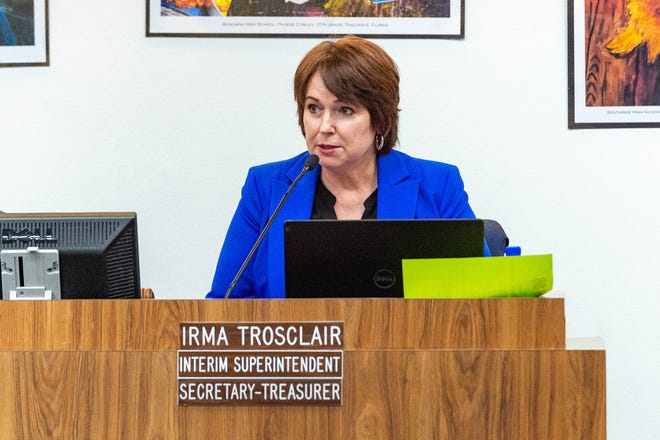 Superintendent Irma Trosclair
