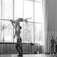 Members of the Louisville Ballet practice in their rehearsal space in downtown Louisville.