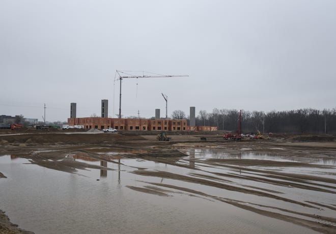 The Red Cedar project across the street from the Frandor Shopping Center pictured Thursday, March 19, 2020.