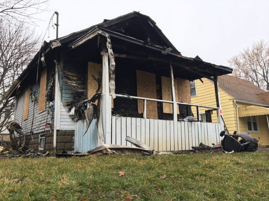 Two people died in a house fire in the 1000 block of Hapeman Street in northwest Lansing.