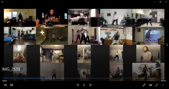 Okemos-based the INstitute of Dancers' first online class took place on Zoom on Monday, March 16, 2020.